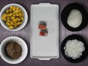 Ingredientes para o nhoque com molho de maniçoba (Foto: Natália Mello / G1)