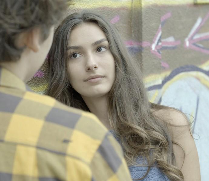 Lu briga e diz que já nem se lembra mais (Foto: TV Globo)
