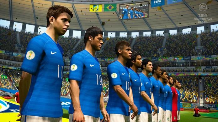 Copa do Mundo Fifa Brasil 2014 traz uniformes atuais da seleção brasileira  (Foto  Divulgação b02d63fc6c889