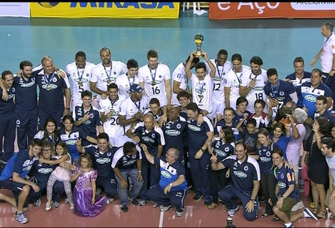 Vôlei do Cruzeiro campeão Sul-Americano masculino de vôlei (Foto: Reprodução Sportv)