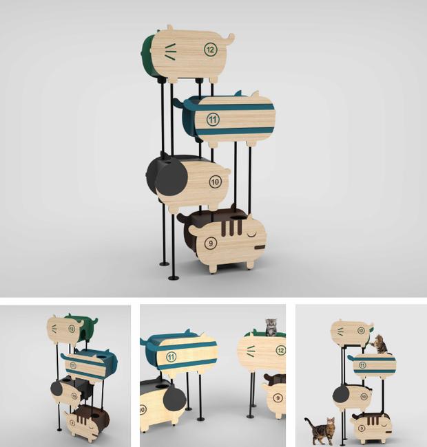 design-mobilia-para-gatos-chan-wai-lin (Foto: Divulgação)