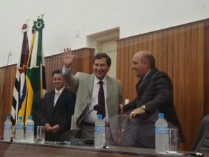 Di Fiori assumiu o cargo de prefeito nesta terça-feira (1º) em Itapetininga (SP). (Foto: Gláucia Souza / G1)