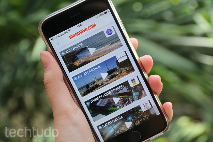 Veja praias e bares em tempo real pelo smart com o app Rio ao Vivo (Foto: Anna Kellen Bull/TechTudo)