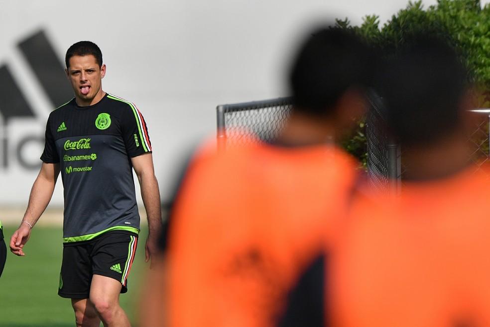 Chicharito é o maior artilheiro da história da seleção mexicana (Foto: AFP)