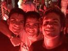 Matheus Braga, ex de Fernanda Gentil, curte balada com amigos no Rio