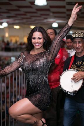 Viviane Araújo no ensaio do Salgueiro (Foto: Alex Nunes/Divulgação)