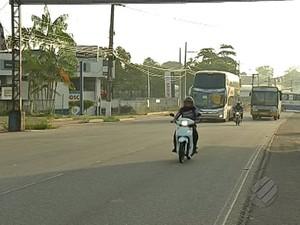 Movimento na BR-316 durante retorno a Belém, no feriado de carnaval. (Foto: Reprodução/TV Liberal )