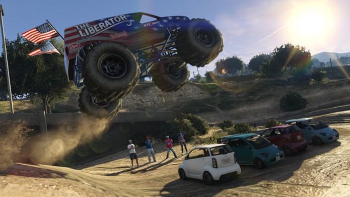 Monster truck Liberator é uma das novidades do update de GTA 5. (Foto: Divulgação)