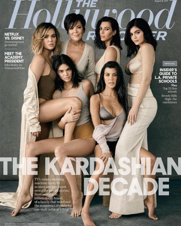 Capa da Hollywood Reporter com a família Kardashian-Jenner (Foto: Divulgação)