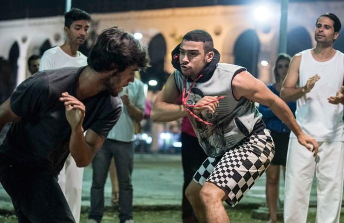 Jacaré é violento em suas investidas (Foto: Raphael Dias / Gshow)