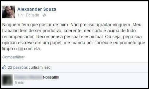 Diretor de Cultura de Ibiúna perdeu cargo após dizer que usaria críticas para 'se limpar' (Foto: Reprodução/Facebook)