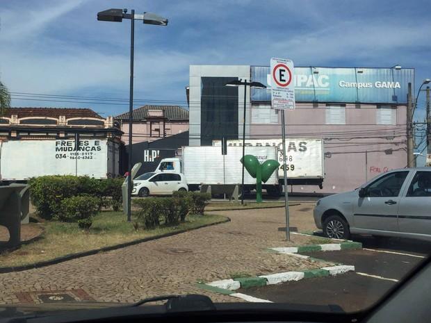 Reintegração de posse na Unipac em Uberlândia (Foto: G1/G1)