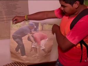 Índios Guaranis de Angra dos Reis fizeram viagem à Argentina (Foto: TV Rio Sul/Reprodução)