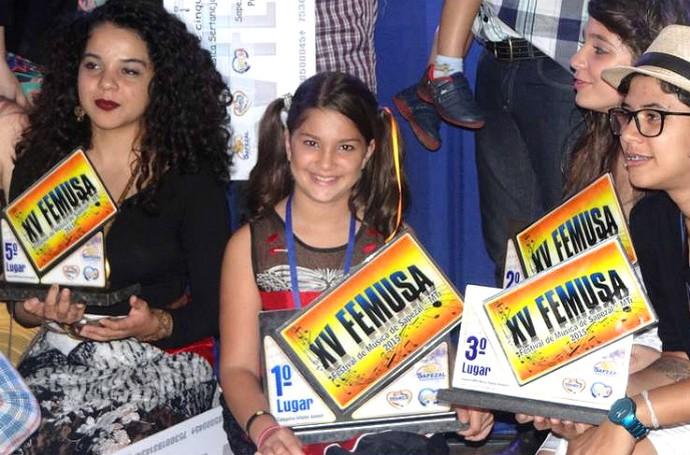 Kaliny já conquistou vários prêmios em festivais (Foto: Arquivo pessoal)