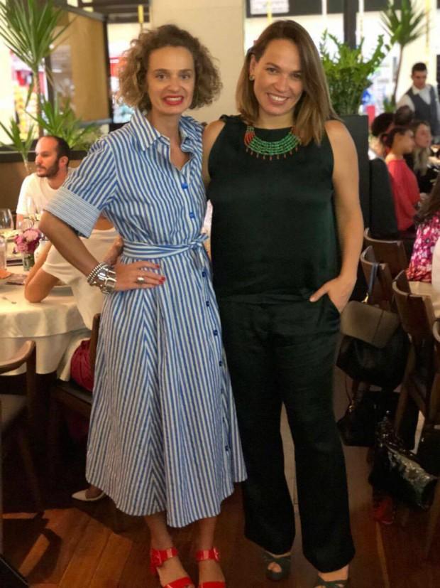 A consultora de estilo e colunista Ucha Meirelles e a diretora de redação de Marie Claire, Marina Caruso (Foto: Reprodução / Instagram)