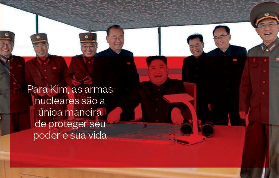 Para Kim, as armas nucleares são a única maneira de proteger seu poder e sua vida (Foto: AFP)