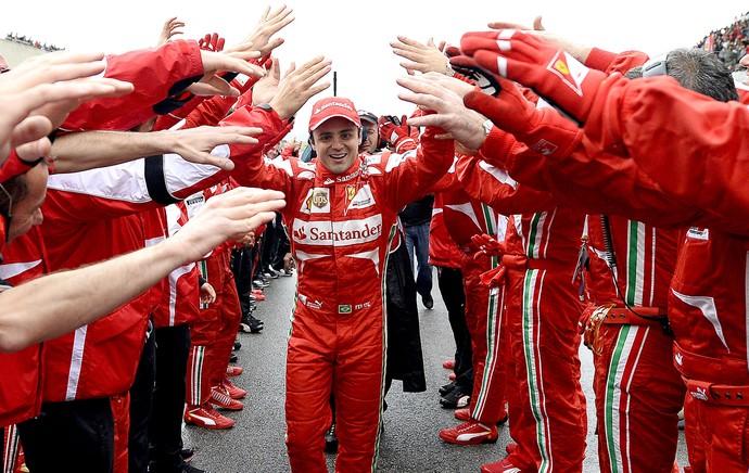 Felipe Massa festa depedida Ferrari (Foto: AP)