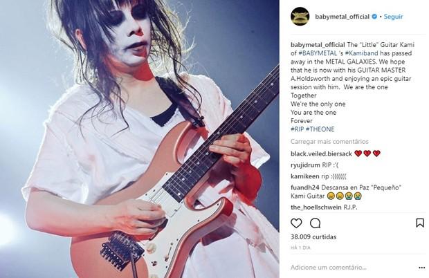 Babymetal lamenta morte do guitarrista Mikio Ko-Gami Fujioka no Instagram (Foto: Reprodução/Instagram)