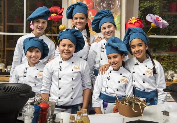 Time de participantes da terceira edição do 'Super Chefinhos' (Foto: Divulgação/TV Globo)