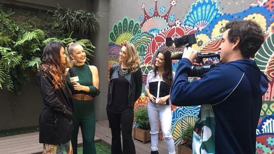 Ex-bailarinas do 'Domingão' voltam ao programa para o 'Show dos Famosos'