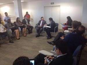 Equipes de transição promovem primeira reunião oficial sobre o governo do Amapá (Foto: Cassio Albuquerque/G1)