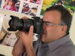Davis Fabrini transformou hobby de fotógrafo em profissão (Foto: Reprodução/ TV Vanguarda)