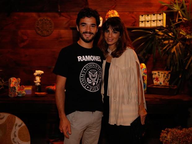 Caio Blat e Maria Ribeiro chegaram para festa do último capítulo (Foto: Ellen Soares / Gshow)