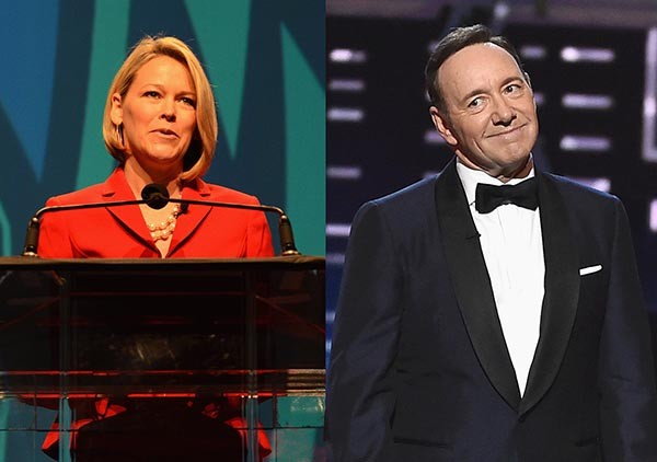 Heather Unruh e Kevin Spacey (Foto: Getty Images)