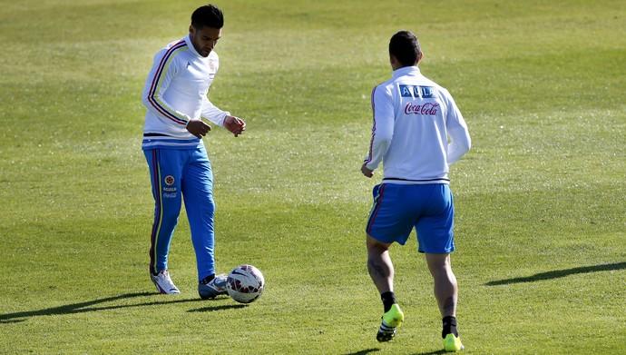 Falcao García treino Colômbia (Foto: EFE)