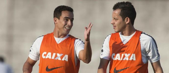 Jadson e Rodriguinho treino Corinthians (Foto: Daniel Augusto Jr/Ag. Corinthians)
