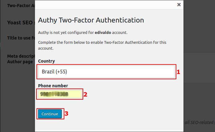 Cadastrando o telefone do usuário para a autenticação (Foto: Reprodução/Edivaldo Brito)