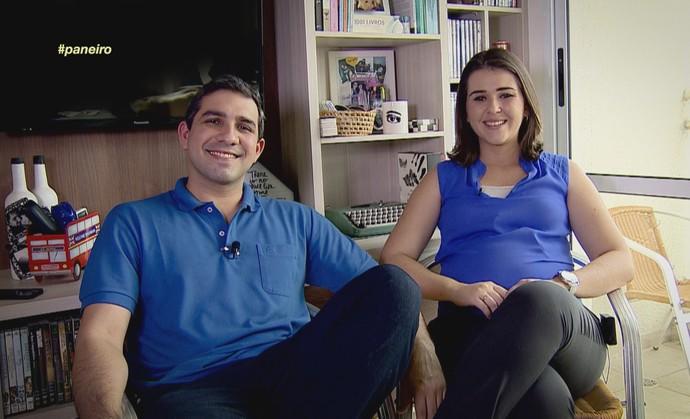 Rafael Campos e Flávia Rezende revelam playlist do casal (Foto: Rede Amazônica)