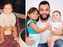 Jonathan Costa posa com os filhos em ensaio: 'Meus clones'