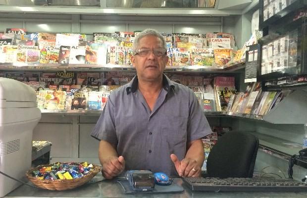 Comerciante acredita que reforma atrairá frequentadores à Praça Cívica, em Goiânia (Foto: Paula Resende/ G1)