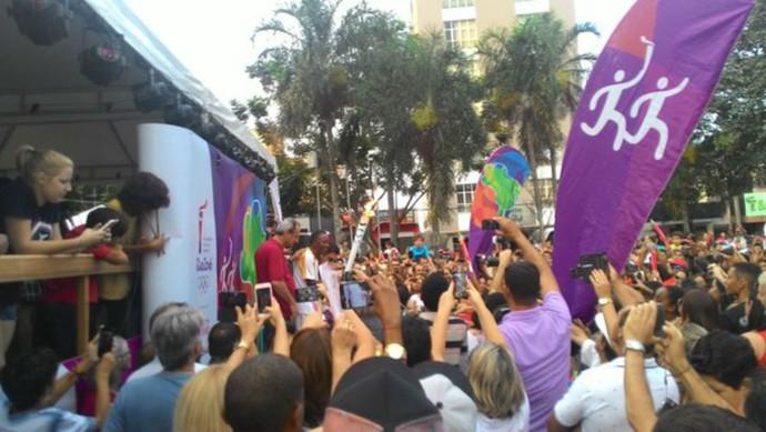 Tocha olímpica, Patrocínio, Minas Gerais, Tour da Tocha (Foto: Lucas Papel)