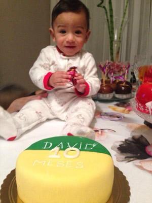 David, filho de Fernanda e Fernando, faz 10 meses (Foto: Arquivo Pessoal)