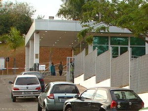 Fachada da empresa Samsung, em Campinas, que foi assaltada nesta segunda-feira (7) (Foto: Márcio Campos/ EPTV)