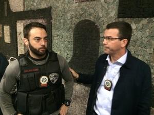 Delegados da Divisão de Homicídios da Polícia Civil Pablo Rodrigues e Rivaldo Barbosa (Foto: Nicolas Satriano/ G1)