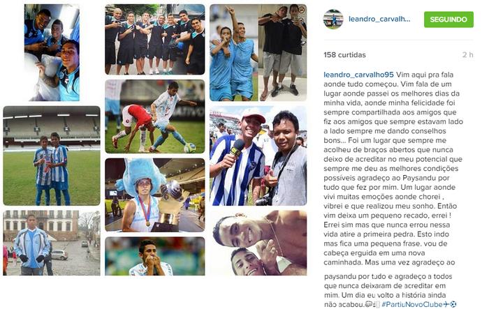 Leandro Carvalho (Foto: Reprodução/ Instagram)