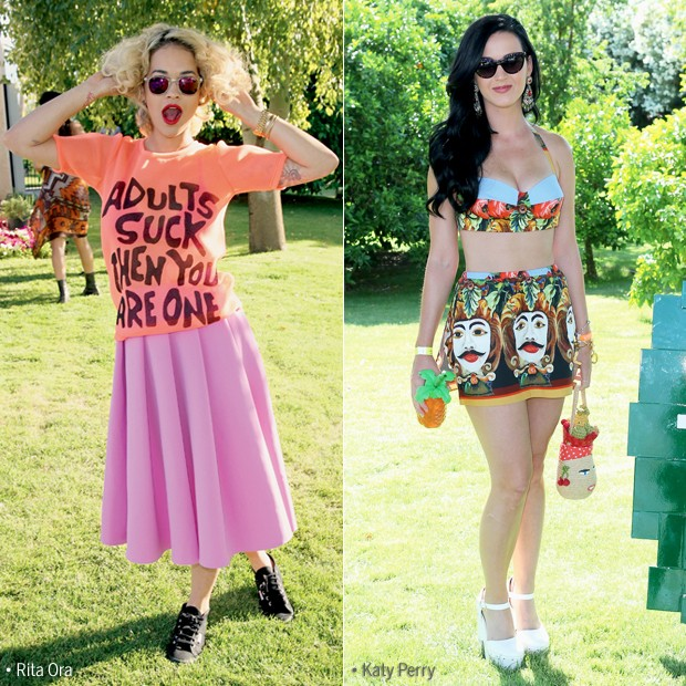 Rita Ora e Katy Perry (Foto: Getty Images)