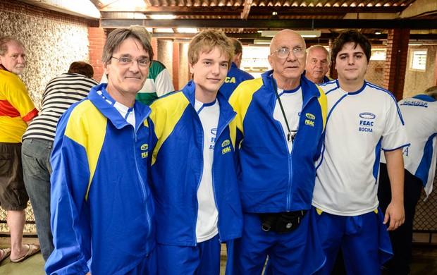 Equipe de bocha Jogos Jogos Abertos do Interior (Foto: Luis Germano - Assessoria/JAI)