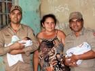 Mulher que deu à luz gêmeos em carro dos Bombeiros recebe doações