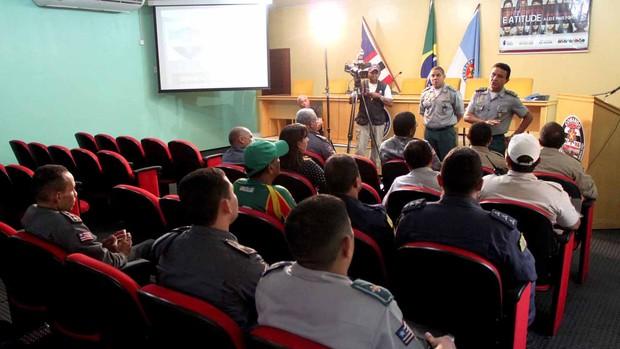Polícia Militar terá mais de 100 homens para segurança do jogo entre Sampaio e Macaé pela Série C (Foto: Divulgação/SSP-MA)