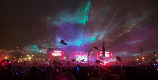 Festival Glastonbury, na Inglaterra (Foto: Matt Cardy/Getty Images)