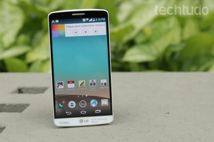 O LG G3 é o smartphone top de linha da companhia (Foto: Lucas Mendes/TechTudo)