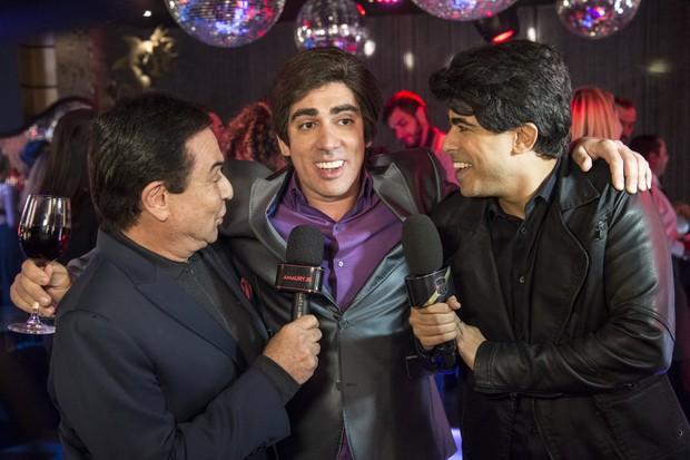 Amaury Jr., Marcelo Adnet e Marcius Melhem no Tá no Ar (Foto: Globo / Estevam Avellar)