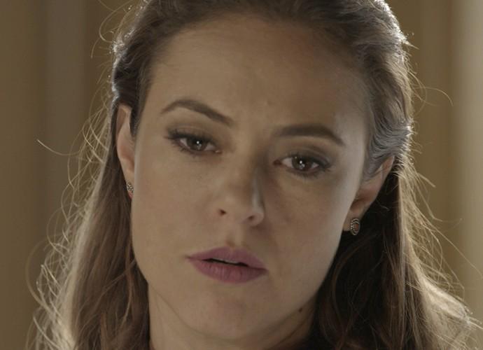 Melissa que diz que Felipe não vai dar palpite na vida de Alex (Foto: TV Globo)