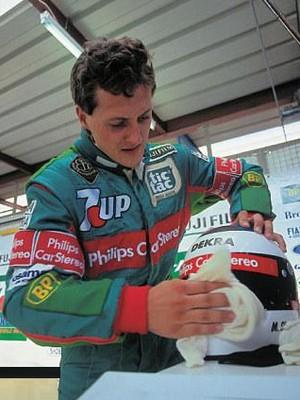 Michael Schumacher na Jordan (Foto: Divulgação)