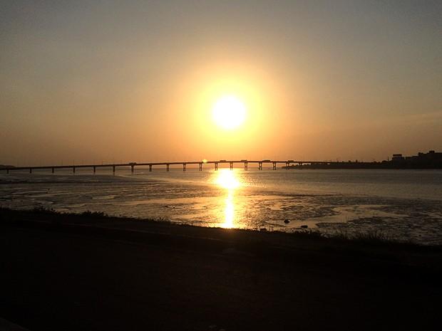 Pôr do sol da Beira-Mar, em São Luís (Foto: Maurício Araya / G1)