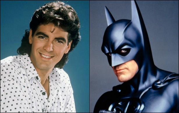 Já o homem-morcego do hilário 'Batman & Robin' (1997), George Clooney, que interpretou o herói quando tinha 36 anos, começou a ganhar a destaque na TV dos EUA com o seriado 'Vivendo e Aprendendo' (1979–1988). Clooney, que hoje está com 53 anos de idade, entrou para o elenco da série na segunda metade da década de 80, quando tinha entre 24 e 26 anos. (Foto: Divulgação)